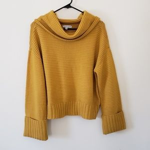 Chunky Mustard Colored Sweater